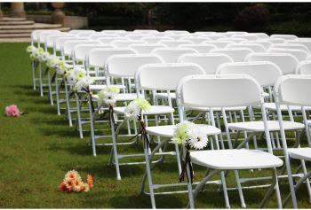 Wedding white folding chairs