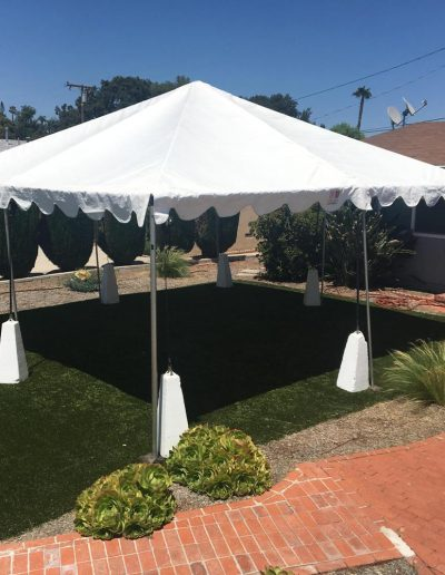 white Party tent or canopy